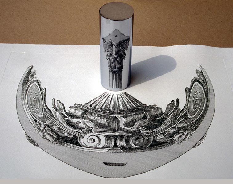 Orosz's Anamorph with Column