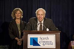 John Marks handing out awards at his think-tank circa 2007.