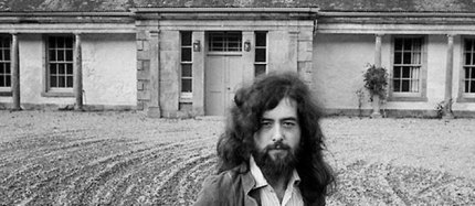Led Zeppelin guitarist Jimmy Page outside Boleskine House in 1971. Boleskine is now a pleasant family home with no reported supernatural activity. Thanks, LePoint.fr.