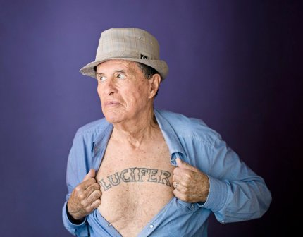 Ken Anger in 2013. No portraits in that attic. Thank you, theguardian.com.