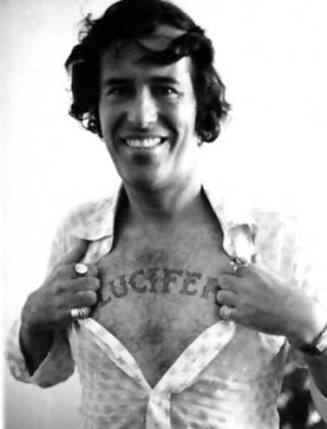 A young Ken Anger shows off his favorite tatoo. Thank you fromthebarrelhouse.com.