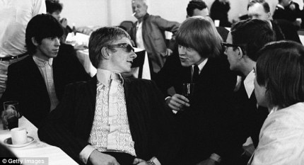 A painfully young Andrew Loog Oldham sits between Keith Richards and Brian Jones. Thank you, dailymail.co.uk.