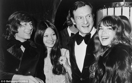 Pedophile Roman Polanski, who drugged and raped a minor like Bill Cosby is alleged to have done, with Hugh Hefner and 'Playmates'. Polanski's career was promoted by Cinema 16 like Kenneth Anger's.