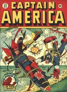 Magazine Management Company's Captian America saves buddy strapped to Japanese bomb.