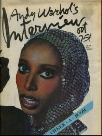 Donyale Luna on the cover of her friend Andy Warhol's magazine. Luna was embraced by the East Coast media establishment-- like the CIA's TIME magazine-- as long as she was useful; but by 1979 he star had faded and she died of a heroin overdose.