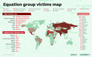 """Click for Kaspersky's """"Equation Group"""" Victim's Map. The only """"Islamic Scholars"""" targeted are in the USA and the U.K."""
