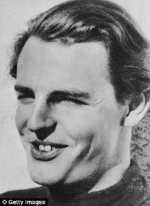 A young Donald Maclean, whose open  career was at the British Foreign Service.