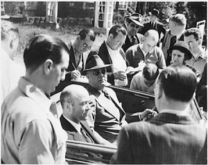 Fresh from the USSR, William Bullitt lets FDR take questions during a 1937 cruise.