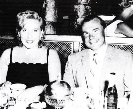 Anatoliy Golitsyn and his wife Svetlana dine out at the Coconut Grove in LA, circa 1961.