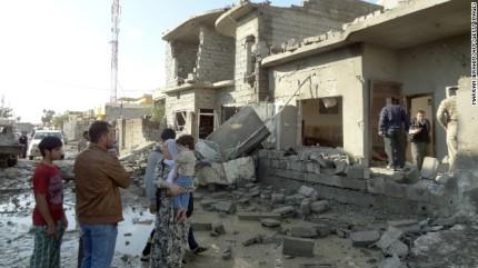 iraqi bomb damage