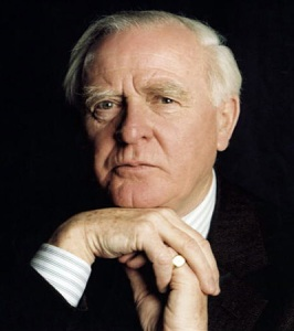 John Le Carre, looking every inch an intellectual.